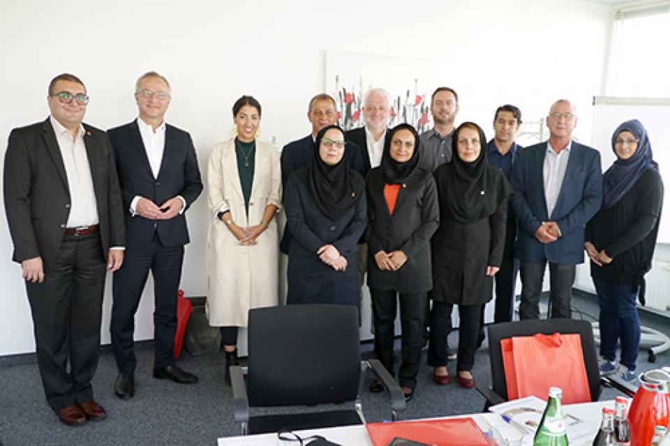 Eine fünfköpfige Delegation aus dem Iran besuchte im September 2018 die Lebenshilfe Berlin
