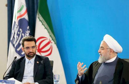 Die Aktivitäten von Präsident Rouhani (re.) und seinem Kommunikationsminister M. J. Azari Dschahromi sind auch Gegenstand der Recherchen der JFI