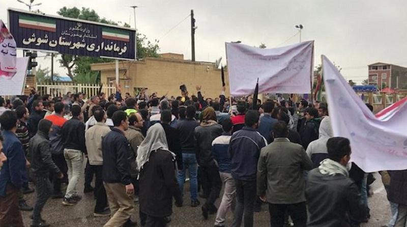 Protest der Arbeiter der Zuckerrohrfabrik Haft Tapeh