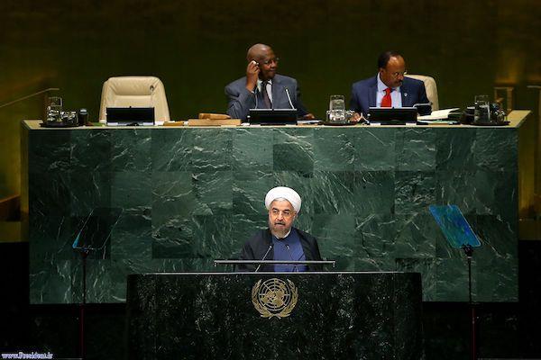 Präsident Hassan Rouhani bei seiner Rede auf der Vollversammlung der Vereinten Nationen
