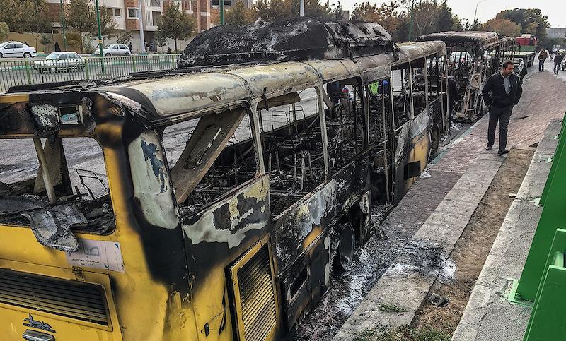 Unruhen im November 2019 Zur Erklärung dieses Bildes siehe die vorherigen Bilder.