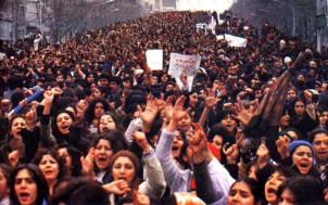 Erste große Frauendemonstration in Teheran - 8. März 1979
