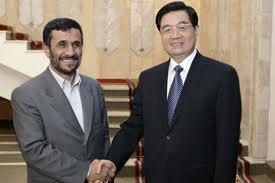 Präsidenten Irans und Chinas Ahmadynedschad und Hu Jintao