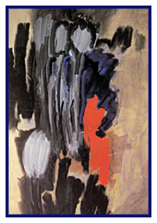 """""""Ohne Titel"""", von Sohrab Sepehri. Sepehri (1928 - 1980) war auch wegen seiner Gedichte Bekannt. Eine seiner Themen war selbstgewählte Einsamkeit und Stille."""