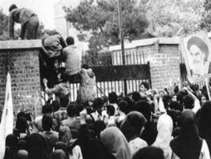 Besetzung der US-Botschaft in Teheran am 4. November 1979.