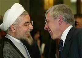 Rouhani kam mit westlichen Politikern gut aus - Foto: mit Großbritanniens Ex-Außenminister Jack Straw