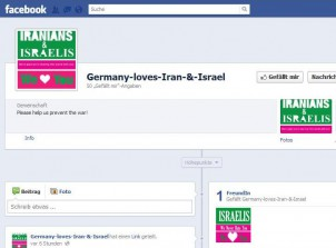 "Facebook-Seite ""Germany loves Iran and Israel"""