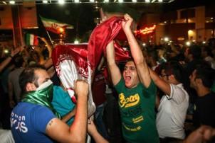 Freude in Teheran über das Unentschieden gegen Nigeria