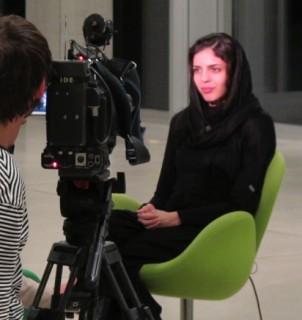 Iranische Regisseurin, Negar Tahsili an der Akademie der Künste der Welt in Köln
