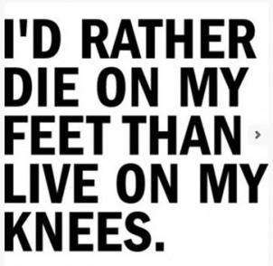 """""""Ich sterbe lieber aufrecht, als auf Knien zu leben!"""", soll Stéphane Charbonnier, der ermordete Chefredakteur von Charlie Hebdo gesagt haben"""