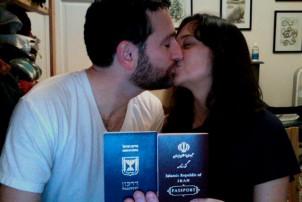 Das Foto des iranisch-israelischen Paares.