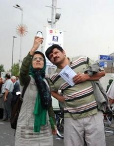 Bahman Ahmadi Amoui und seine Frau Jila Baniyaghoub. Foto: www.rahesabz.net