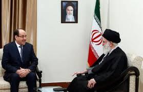 Irans Staatsoberhaupt Khamenei (re.) hält weiterhin an Iraks Reigerungschef al-Maliki fest