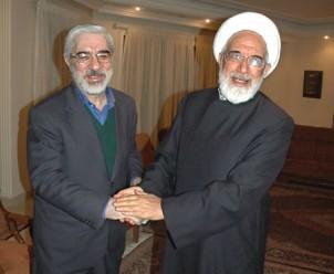Karroubi (rechts) und Moussawi - Foto: www.web.iran-forum.ir