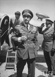 Schah Mohammad Reza Pahlavi bei seiner Rückkehr am 22. August 1953