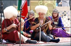 Turkmenische Musikgruppe im Iran