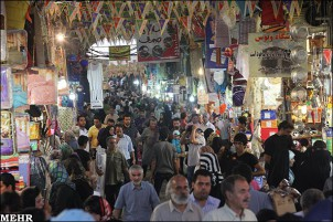 Teheraner Basar, mit knapp zehn Kilometern Länge und über 10.000 Läden, ist der größte überdachte Basar der Welt