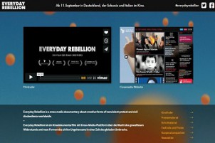 Screenshot: Die Website von Everyday Rebellion