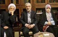 Mehdi Karroubi, Hossein Moussawi, Zahra Rahnavard (v. li.) stehen seit 2 Jahren unter Hausarrest