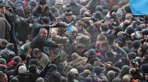 Irans Staatsoberhaupt Khamenei steht auf der Seite Russlands (Foto: Eine Demonstration in Kiew - www.presstv.ir)
