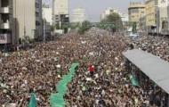 Massenprotest in Teheran gegen das Ergebnis der letzten Präsidentschaftswahlen 2009