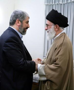 Der Politbürochef der palästinensischen Organisation Hamas, Khaled Mashaal bei seinem Treffen mit Ayatollah Khamenei in Teheran. Foto:www.khamenei.ir