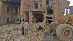 Zerstörung historischer Gebäude in Shiraz