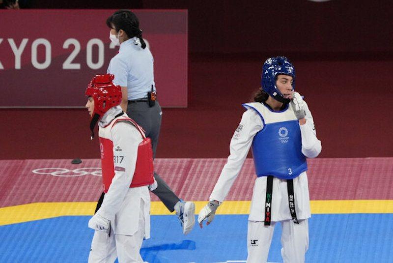 Iranerin gegen Iranerin bei den Olympischen Spielen