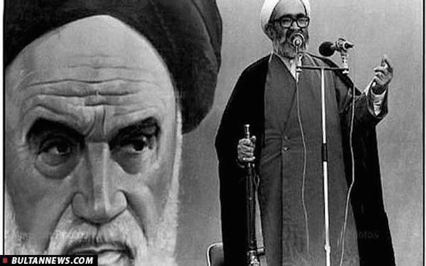 Ayatollah Hossein Ali Montazeri als Vorsteher des Freitagsgebetes in Teheran