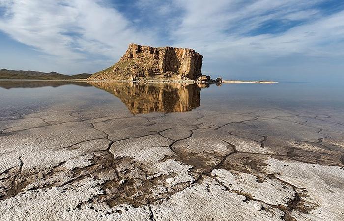 Urmiasee, Austrocknung, Iran, West-Aserbaidschan