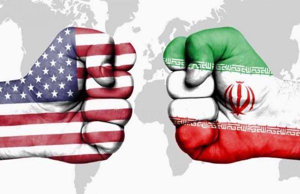 Iran USA Flaggen