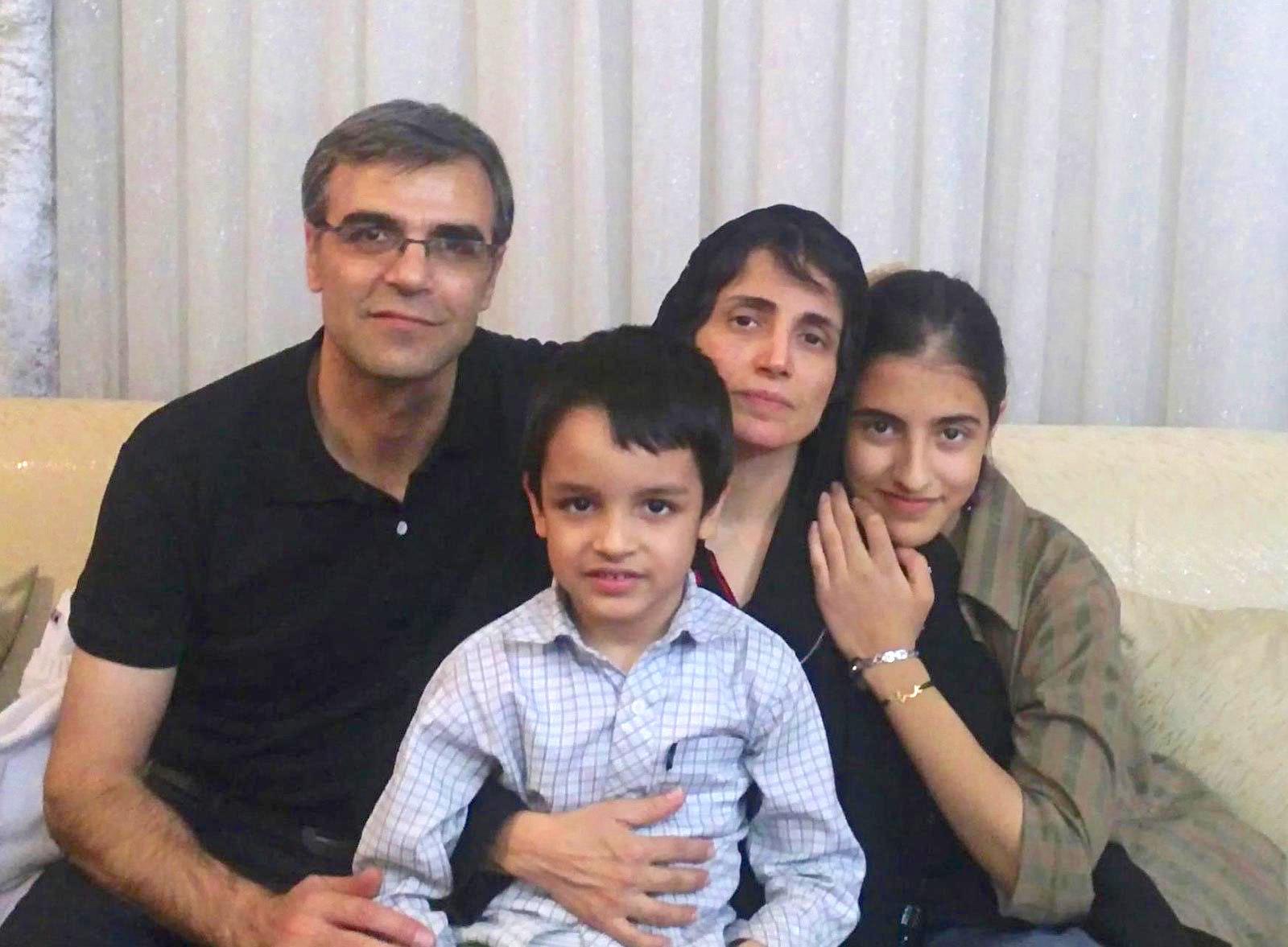 Nasrin Sotoudeh, Reza Khandan und ihre gemeinsamen Kinder