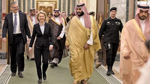 Ex-Verteidigungsministerin Ursula von der Leyen zu Besuch beim Saudi-Arabiens Kronprinz Mohammed Bin Salman