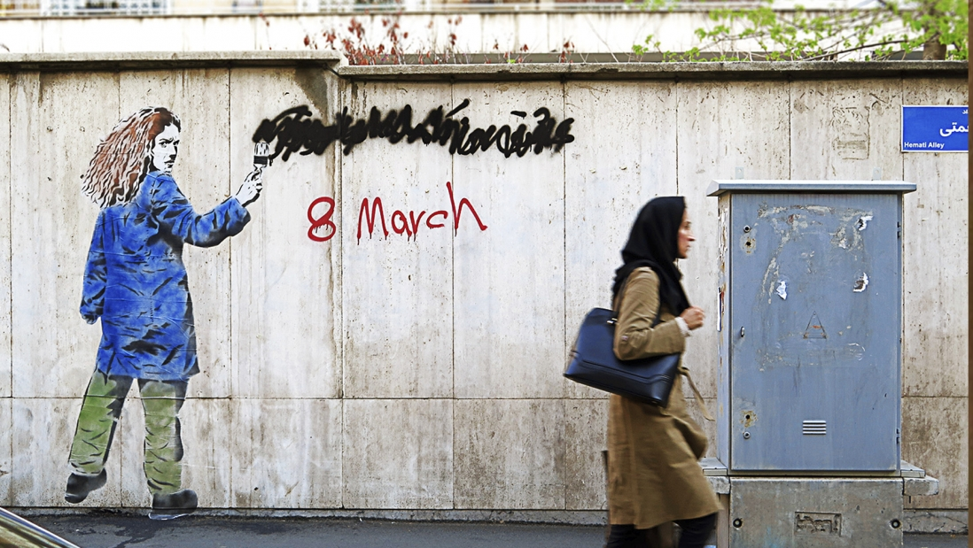 Graffiti in Teheran - für den internationalen Frauentag