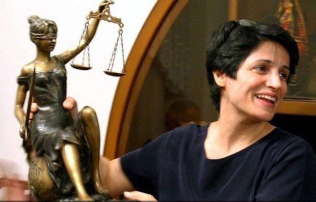 Nasrin Sotoudeh, wegen ihrer Menschenrechtsaktivitäten zu 33 Jahren Haft und 148 Peitschenhieben verurteilt!