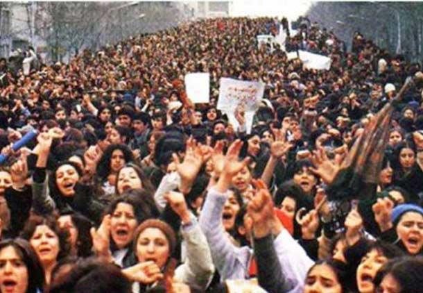 Demonstration der Frauen in Teheran gegen den Schleierzwang - 8. März 1979