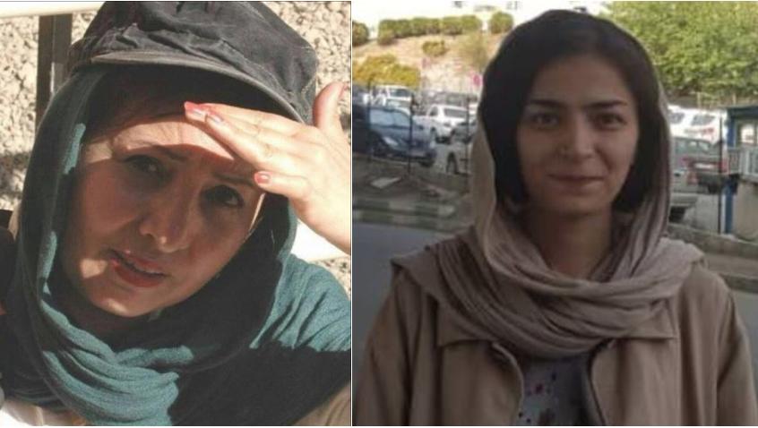 Haftantritt zweier iranischer Aktivistinnen, Aleih Motalebzadeh, Roghieh Nafari, Evin Gefängnis
