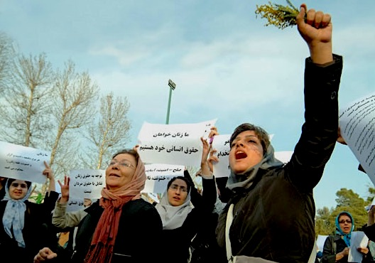 Frauendemo in Teheran