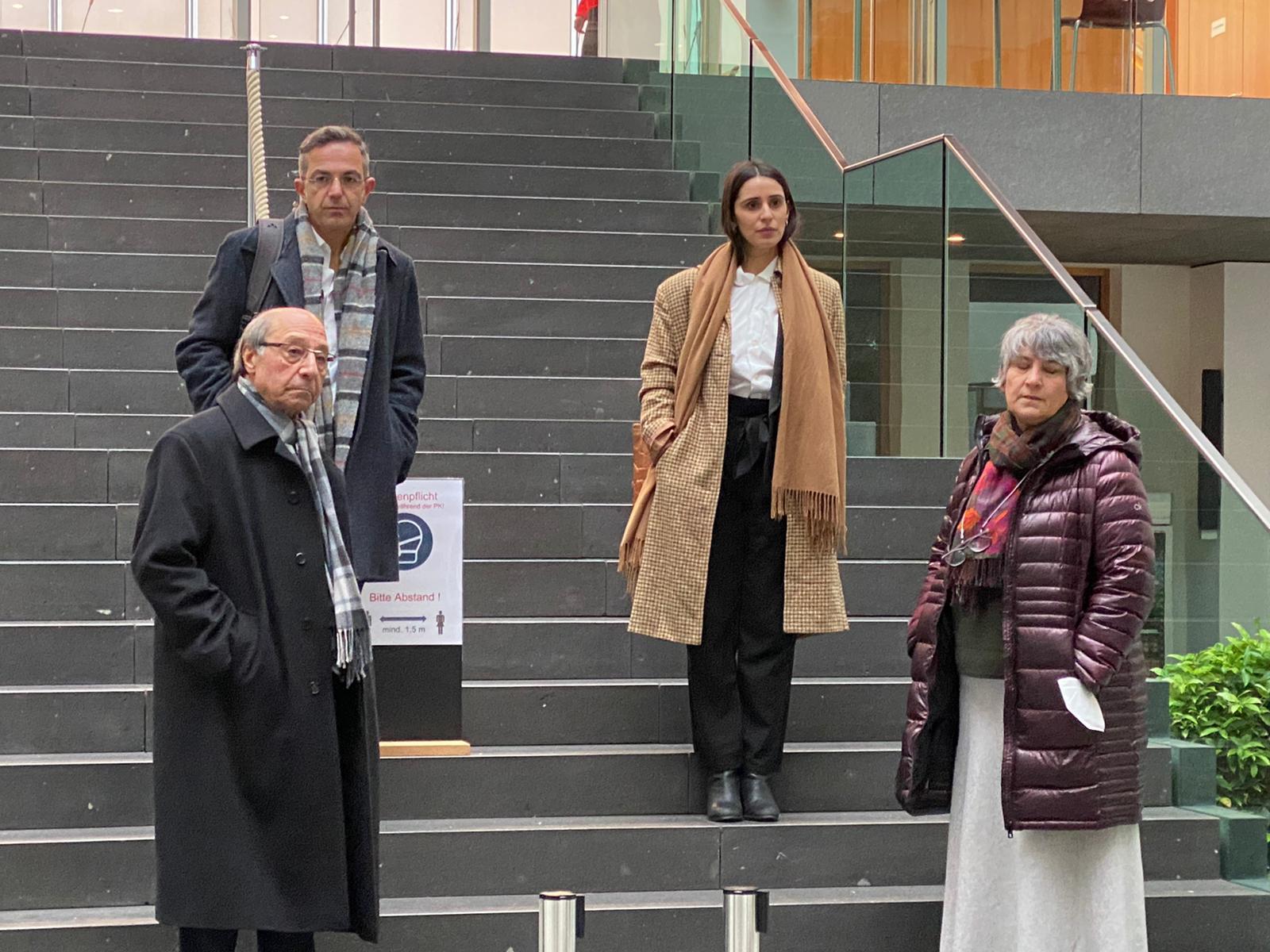 Von links: Bahman Niroumand, Navid Kermani, Maryam Zaree und Parastou Forouhar
