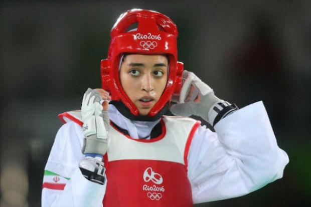 Taekwondo-Kämpferin Kimia Alizadeh, Gewinnerin der ersten olympischen Medaille in der Geschichte des iranischen Frauensports
