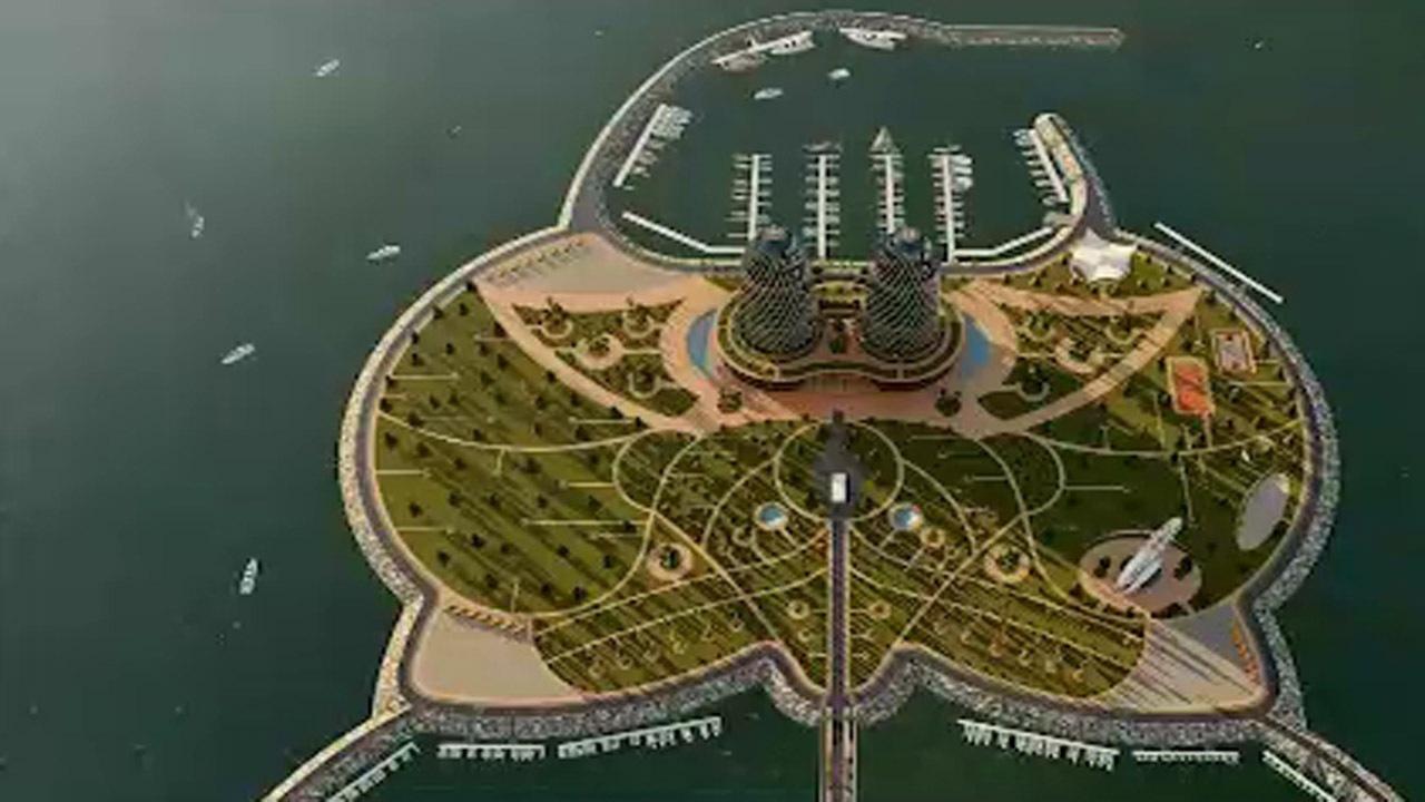 Erste künstliche Insel Irans, Nouschahr, Mazandaran, Hyrkanischer Wald, Tourismus Iran