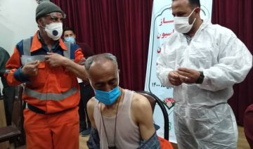 Corona im Iran, Impfstoff, Impfpriorisierung, Sputnik V, Straßenfeger im Iran, Impfkampagne Iran, Pirouz Hanachi