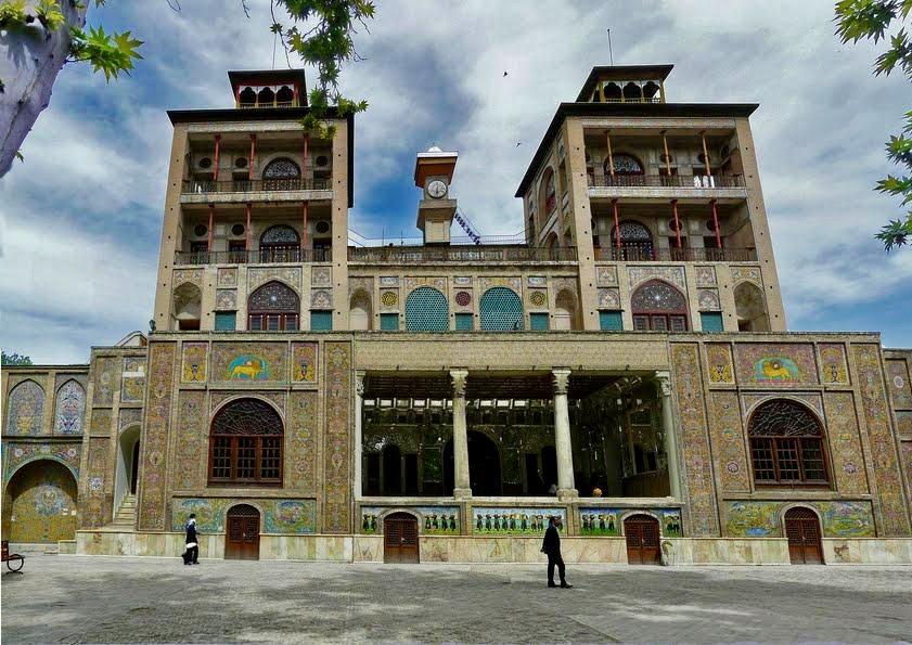 Turmuhr von Shams-ol-Emareh, Golestanpalast, Teheran, Tourismus Iran, Naser ad-Din Schah, Königin Victoria Vereinigtes Königreich, Kadscharen-Dynastie, Iran