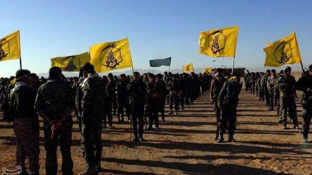 Übungsplatz der Fatemiyoun-Brigade im Iran