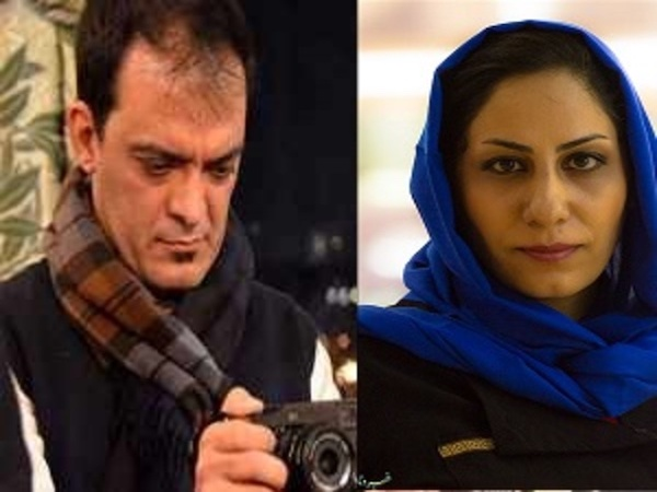 Azam Mohebbi und der Fotograf Majid Saidi